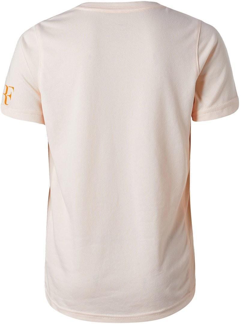 Теннисная футболка детская Nike Court RF Tee NY guava ice
