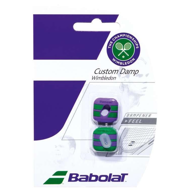 Виброгаситель Babolat Custom Damp2 Wimbledon X2 purple/green