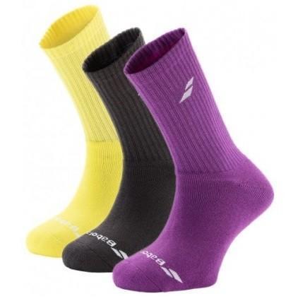 Носки детские Babolat Junior 3-pack multicolor