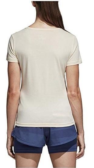 Теннисная футболка женская Adidas Roland Garros Tee Ecru Tint