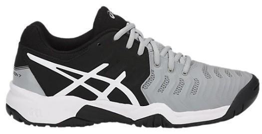 Детские теннисные кроссовки Asics Gel-Resolution 7 GS black/grey/white