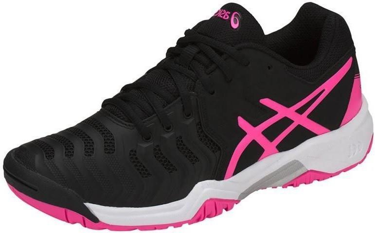 Детские теннисные кроссовки Asics Gel-Resolution 7 GS black/hot pink/silver