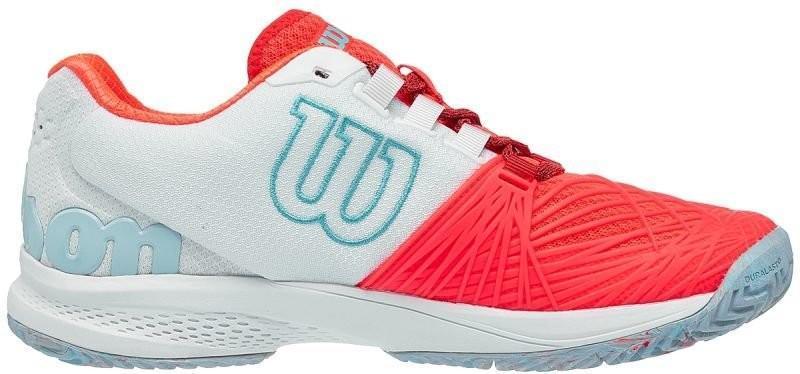 Теннисные кроссовки женские Wilson Kaos 2.0 fiery coral/white/blue curacao