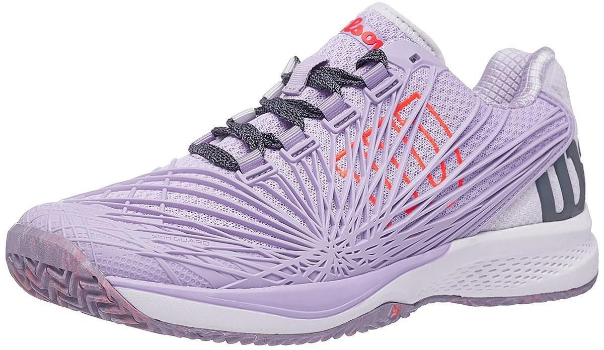 Теннисные кроссовки женские Wilson Kaos 2.0 pastel lilac/white/fiery coral