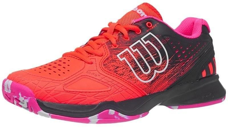 Теннисные кроссовки женские Wilson Kaos Comp fiery coral/evening blue/pink glo