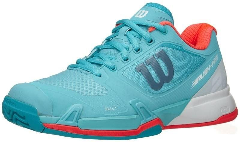 Теннисные кроссовки женские Wilson Rush Pro 2.5 blue curacao/white/fiery coral