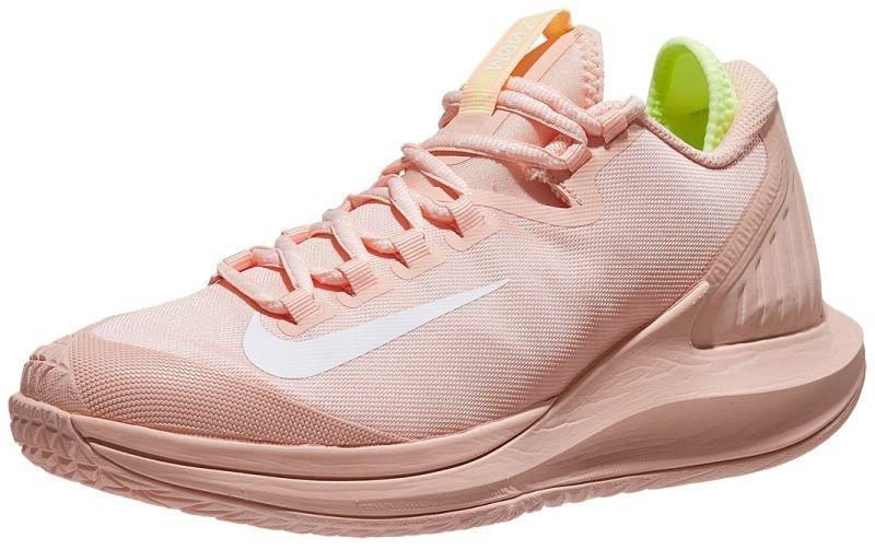 Теннисные кроссовки женские Nike W Court Air Zoom Zero arctic orange/white/volt glow
