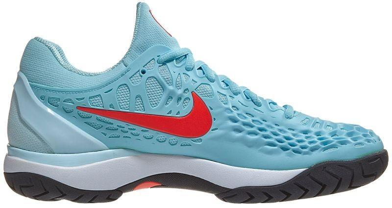 Теннисные кроссовки женские Nike WMNS Air Zoom Cage 3 HC still blue/bright crimson