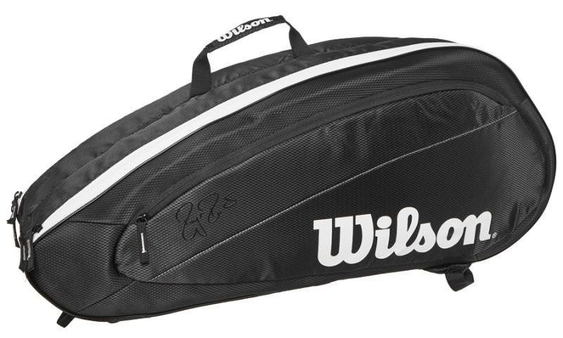 Теннисная сумка Wilson Fed  Team 6 Pk Bag black/white