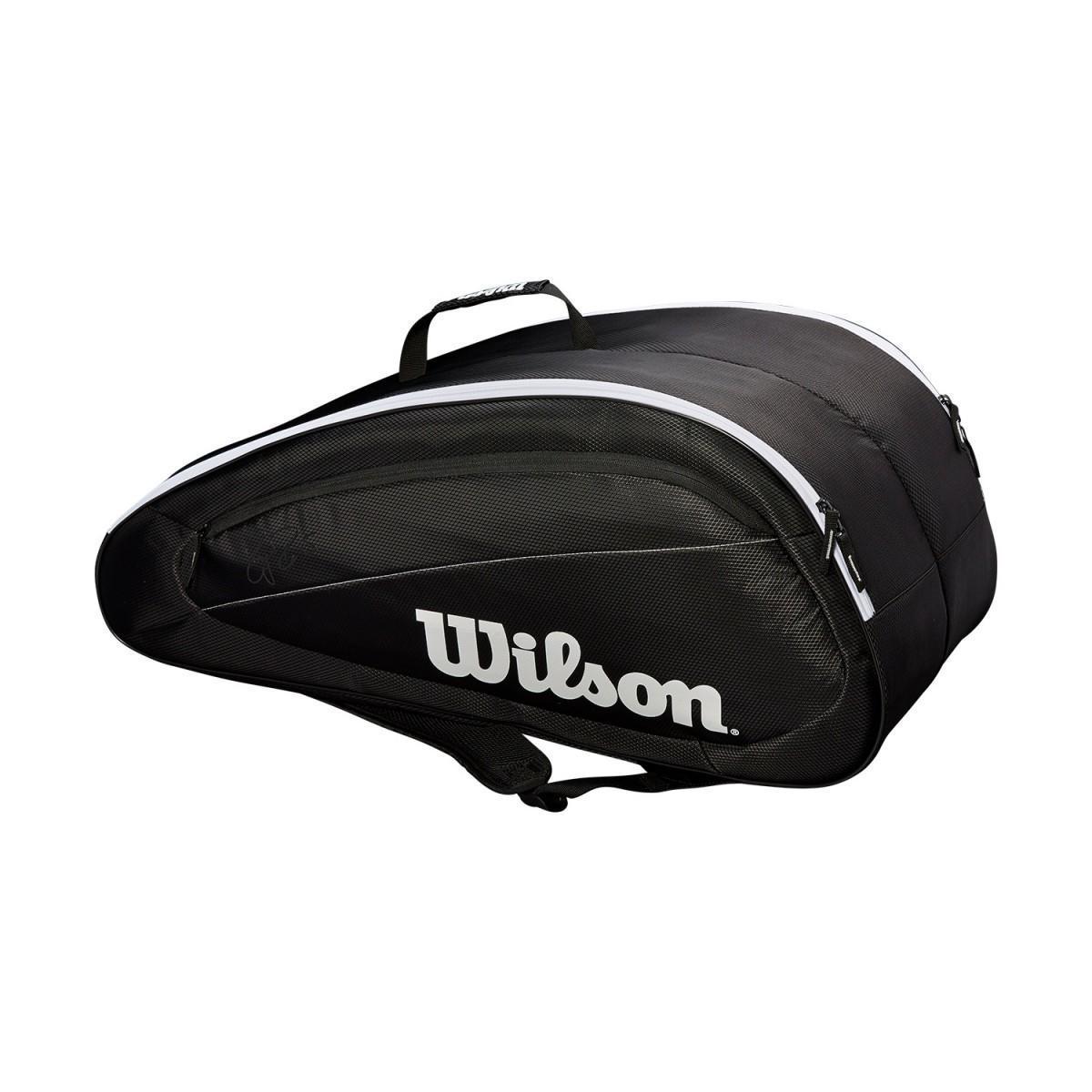 Теннисная сумка Wilson Fed Team 12 Pk Bag black/white