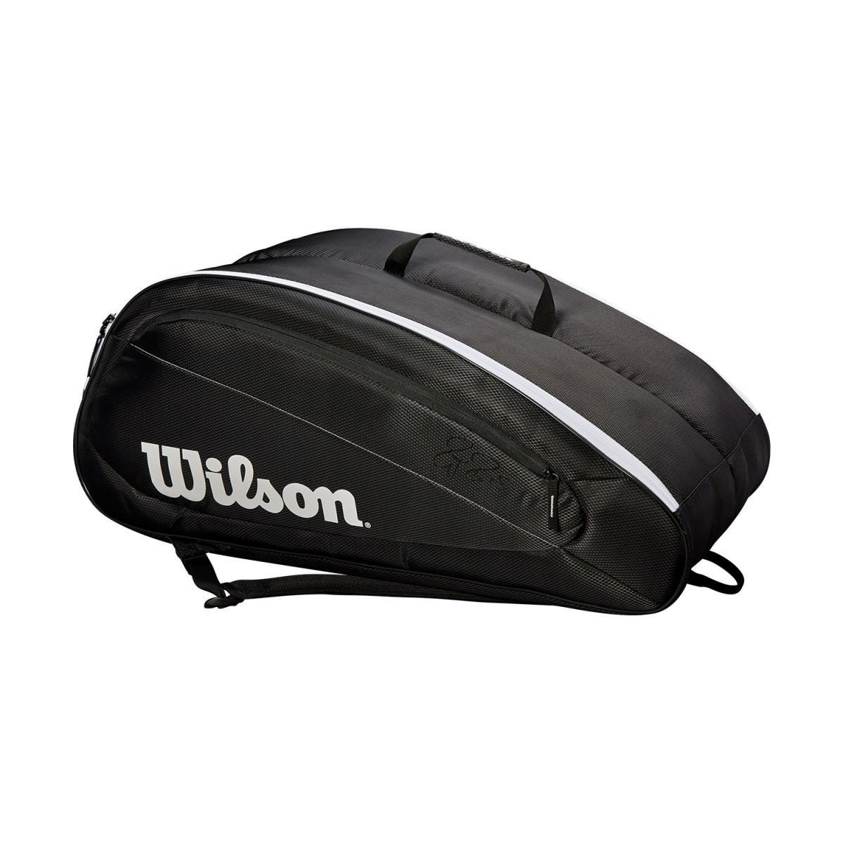 Теннисная сумка Wilson Fed Team 12 Pk Bag black/white