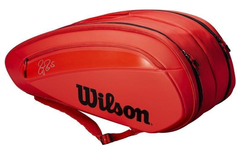 Теннисная сумка Wilson Federer DNA 12 Pk Bag infrared