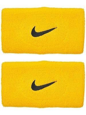 Напульсник Nike Swoosh Double-Wide Wristbands amarillo/black