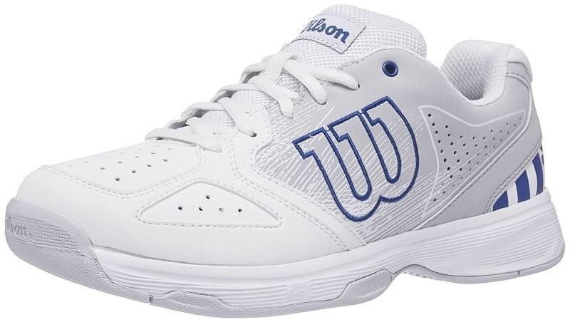 Детские теннисные кроссовки Wilson Stroke JR white/pearl blue/dazzling blue