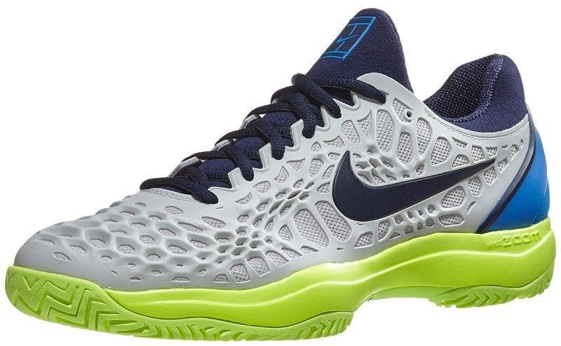 Тенісні кросівки чоловічі Nike Air Zoom Cage 3 HC vast grey/blackened blue