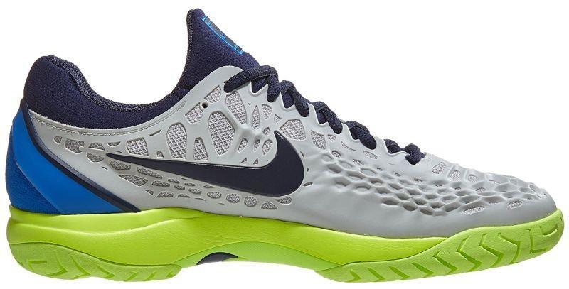 Детские теннисные кроссовки Nike Air Zoom Cage 3 HC JR vast grey/blackened blue
