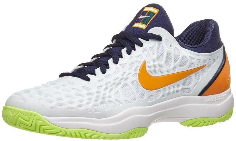 Детские теннисные кроссовки Nike Air Zoom Cage 3 HC JR white/orange peel