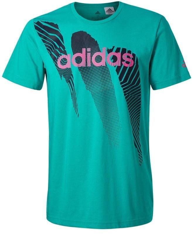 Теннисная футболка мужская Adidas Seasonal Tee M hi-res aqua