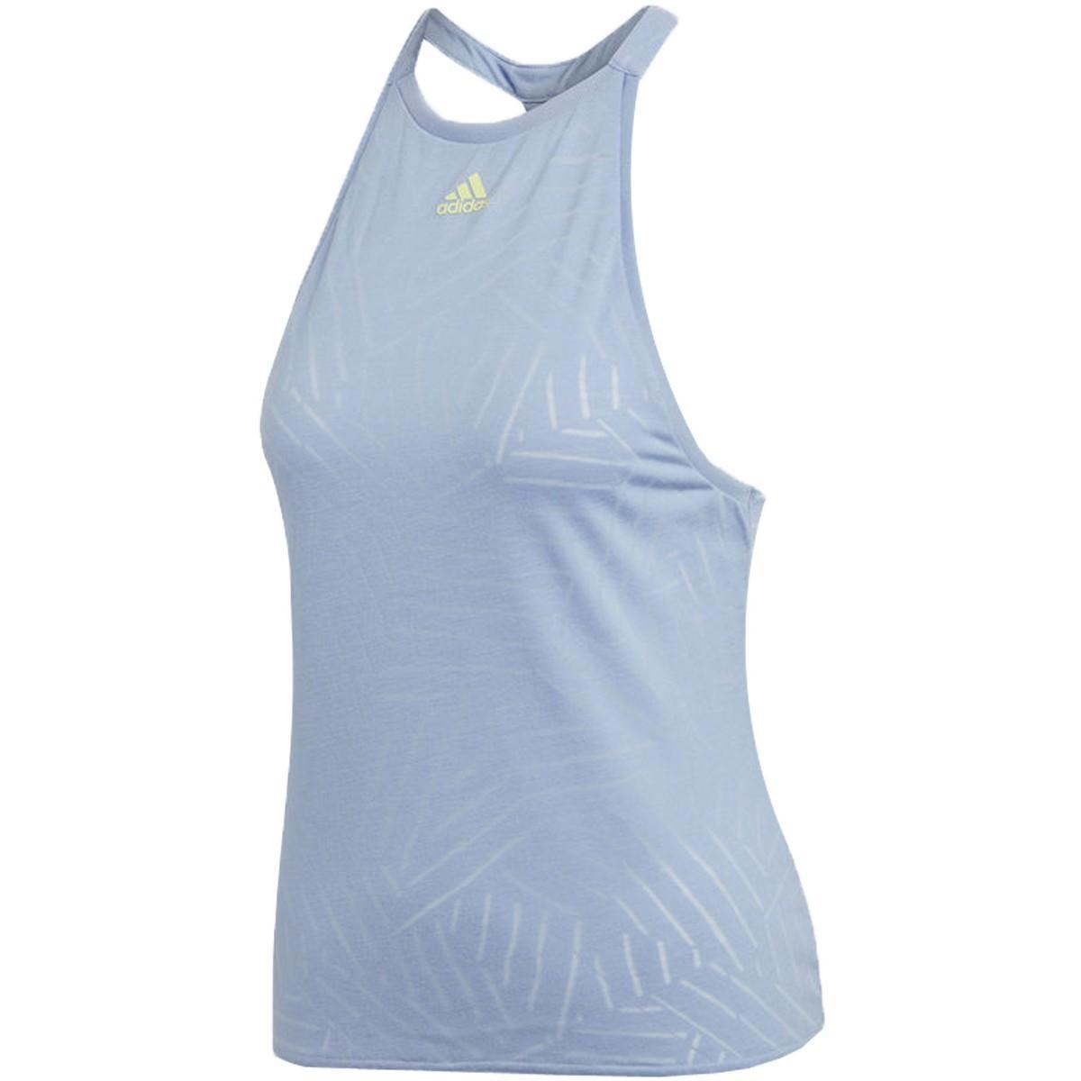 Теннисная майка женская Adidas Melbourne Burnout Tank light blue