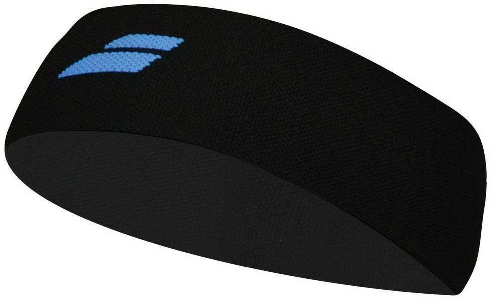 Повязка на голову Babolat Logo Headband black/diva blue