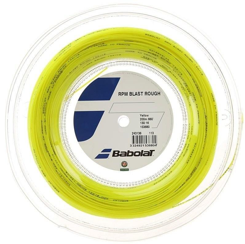 Струна Babolat RPM Blast Rough yellow 12 m натяжка с бобины
