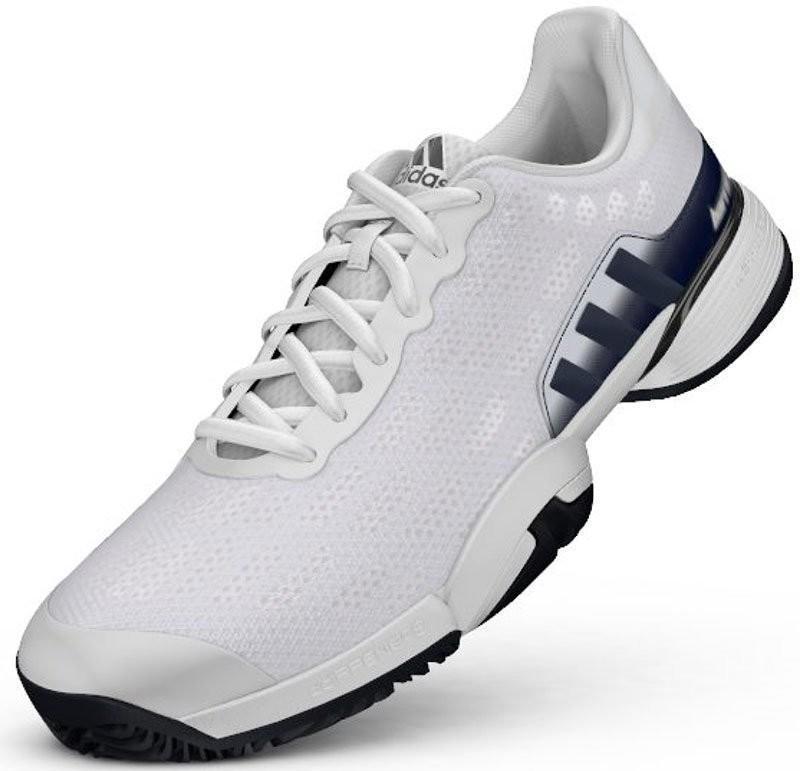 Детские теннисные кроссовки adidas Barricade 2016 xJ ftwr white/collegiate navy/kurz gold foil