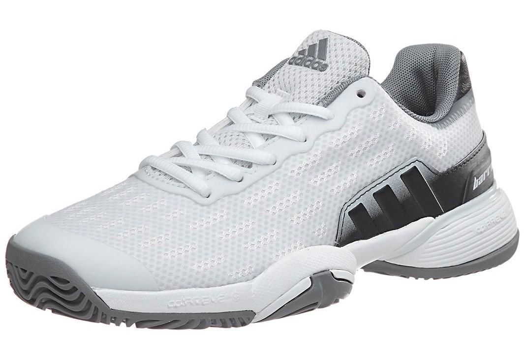 Детские теннисные кроссовки adidas Barricade 2016 xJ ftwr white/solid grey/grey