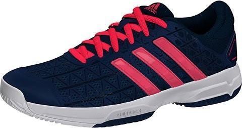 Детские теннисные кроссовки adidas Barricade Club xJ tech steel/flash red