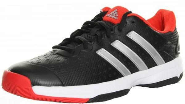 Детские теннисные кроссовки adidas Barricade Team 4 Core black/silver metallic/bright red