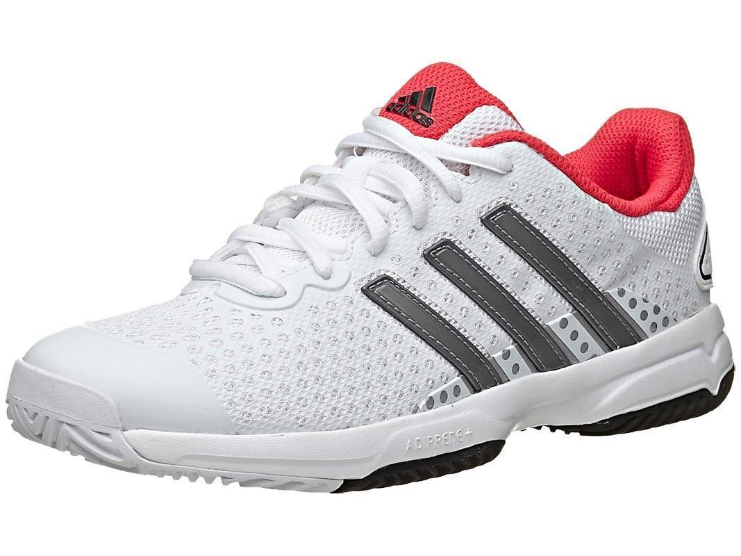 Детские теннисные кроссовки adidas Barricade Team 4 White/Grey/Red
