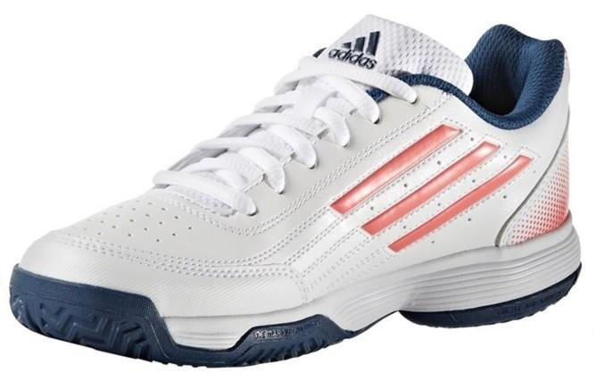 Детские теннисные кроссовки adidas Sonic Attack K ftwr white/tech steel/flash red