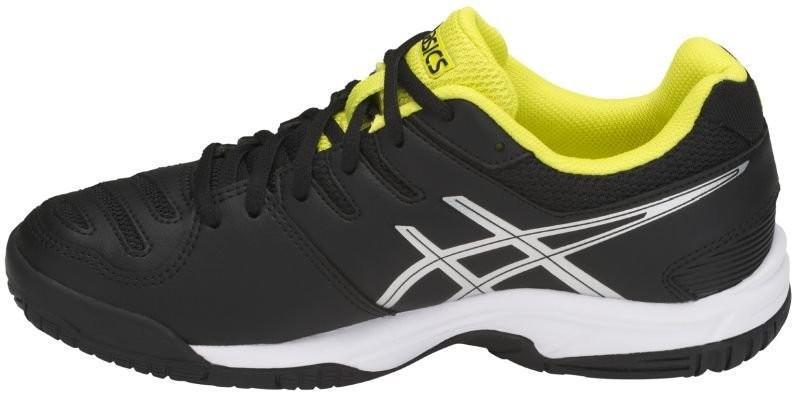 748d157d ... Детские теннисные кроссовки Asics Gel Game 5 GS black/silver/sulphur  spring ...