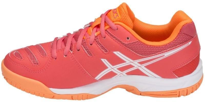 Детские теннисные кроссовки Asics Gel Game 5 GS coralicious/white/orange pop