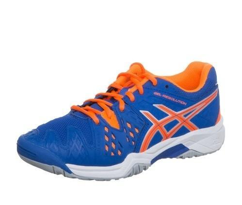 Детские теннисные кроссовки Asics Gel Resolution 6 GS Blue/Orange