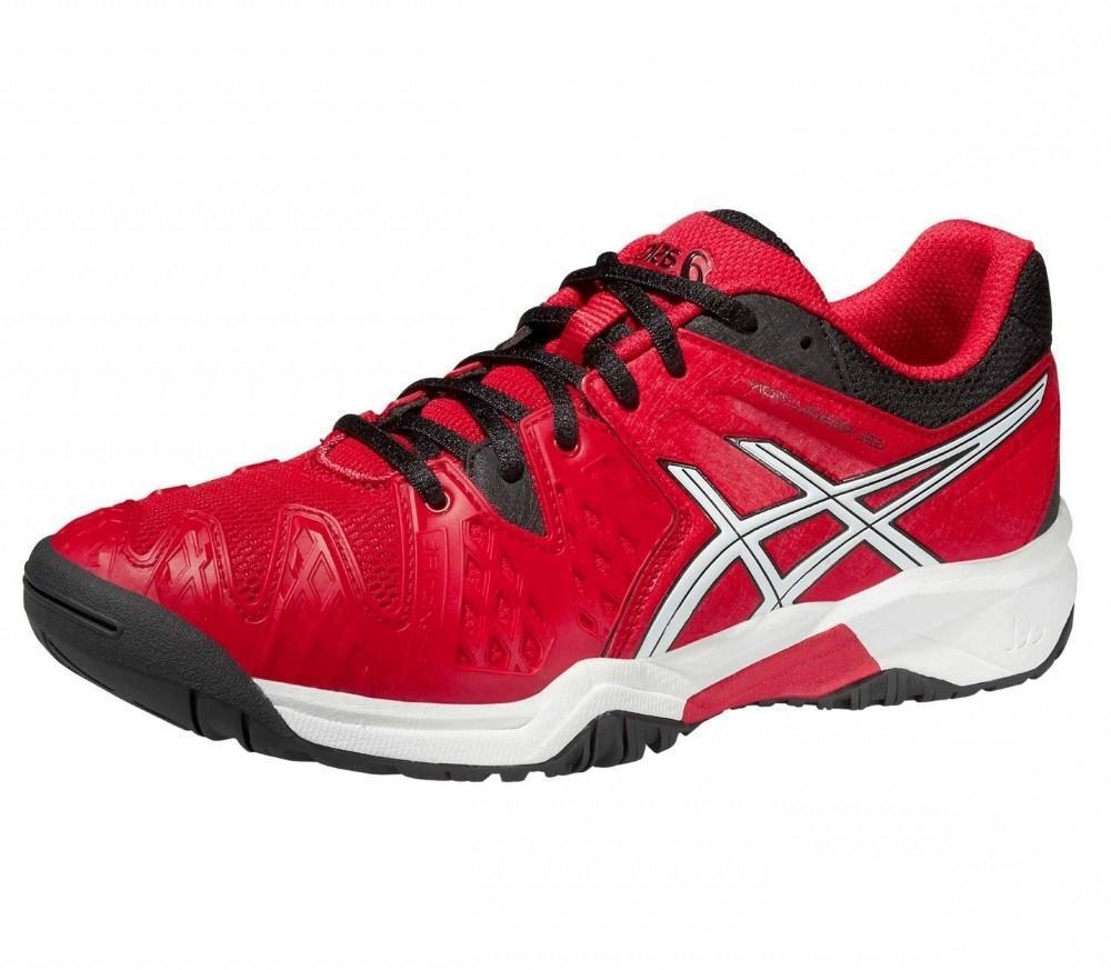 Детские теннисные кроссовки Asics Gel Resolution 6 GS Red/Black/White