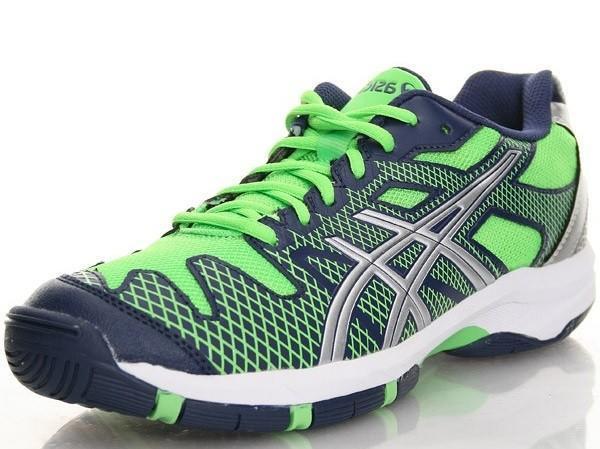 Детские теннисные кроссовки Asics Gel Solution Speed 2 GS navy/silver/neon green