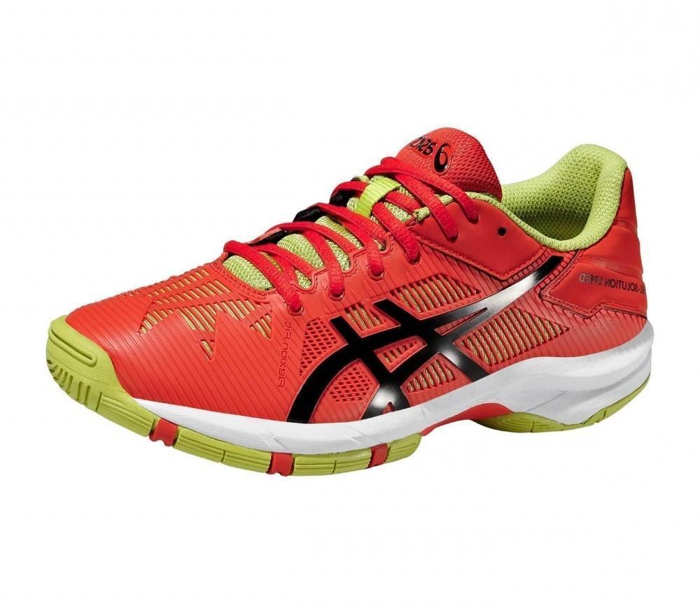 Детские теннисные кроссовки Asics Gel Solution Speed 3 GS Or/Bk/Lime