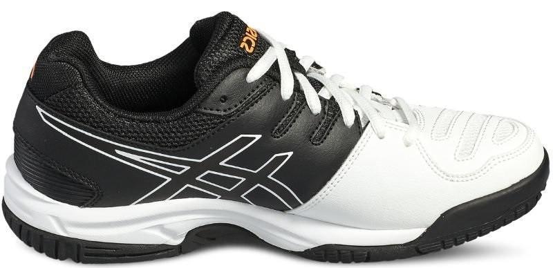 Детские теннисные кроссовки Asics Gel-Game 5 GS white/onyx/shocking orange