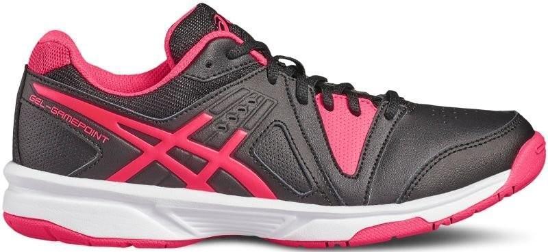 Детские теннисные кроссовки Asics Gel-Gamepoint GS black/diva pink/white
