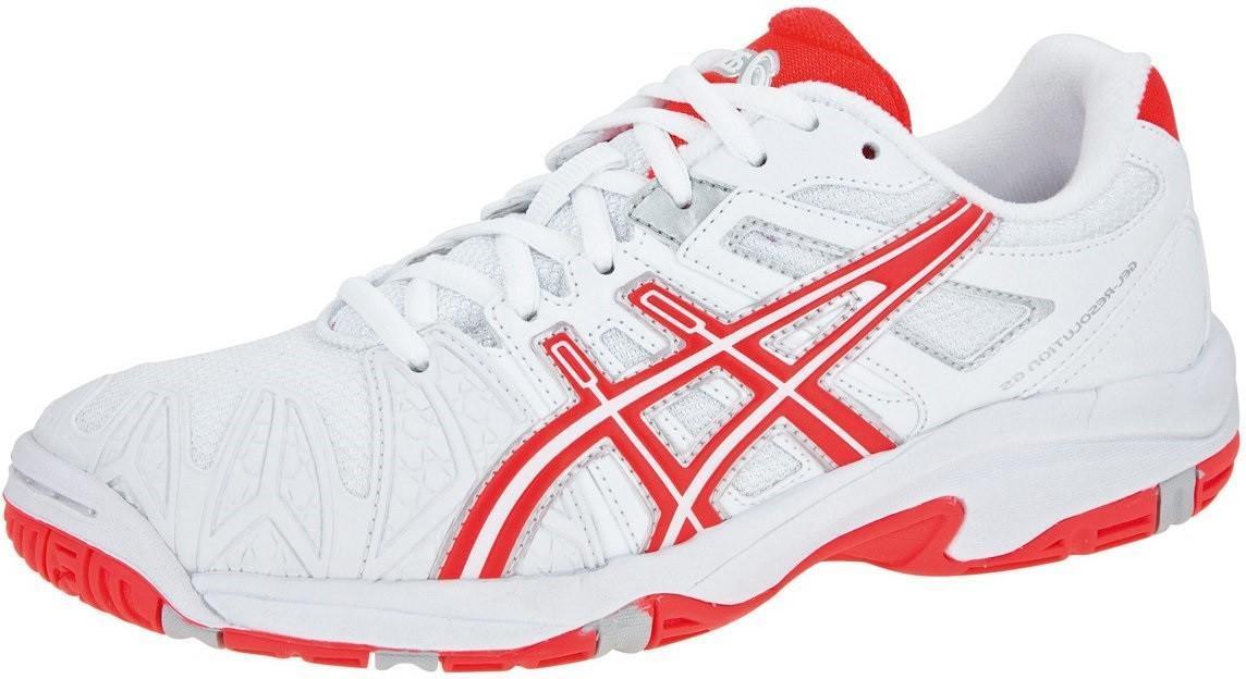 Детские теннисные кроссовки Asics Gel-Resolution 5 GS white/diva pink/lightninig