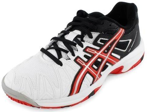 Детские теннисные кроссовки Asics Gel-Resolution 5 GS white/fiery red/black