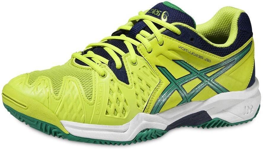 Детские теннисные кроссовки Asics Gel-Resolution 6 GS lime/pine/indigo blue