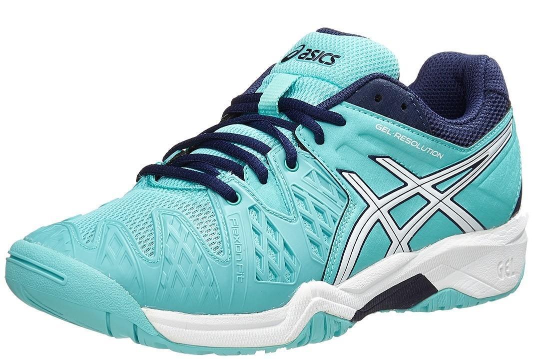 Детские теннисные кроссовки Asics Gel-Resolution 6 GS pool blue/white/indigo blue