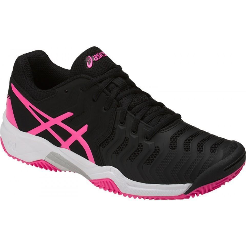 Детские теннисные кроссовки Asics Gel-Resolution 7 GS Грунт Black/Pink