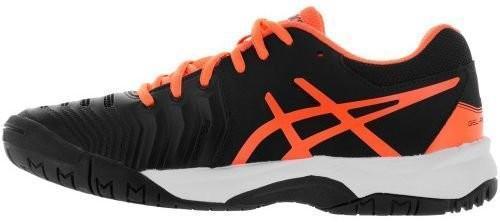 Детские теннисные кроссовки Asics Gel-Resolution 7 GS black/shocking orange/white