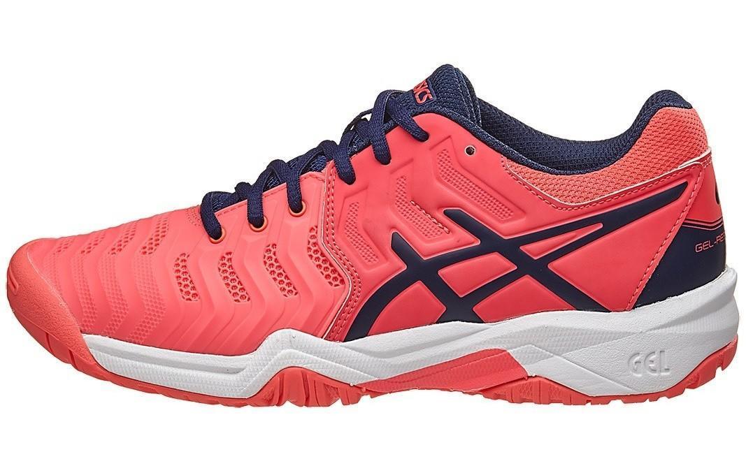 Детские теннисные кроссовки Asics Gel-Resolution 7 GS diva pink/indigo blue/white