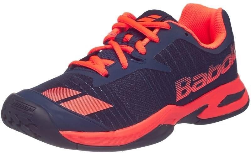 Детские теннисные кроссовки Babolat Jet All Court Junior blue/red