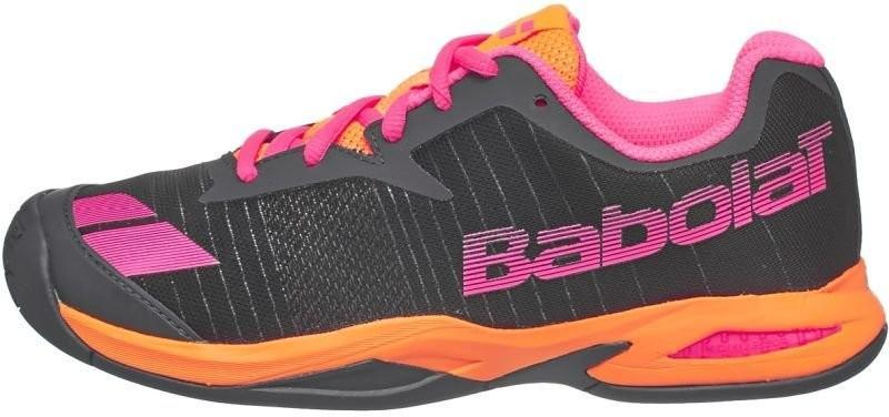 Дитячі тенісні кросівки Babolat Jet All Court Junior grey/orange/pink