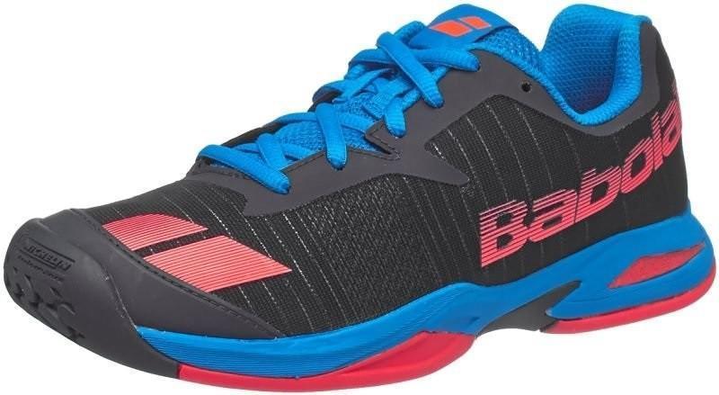 Детские теннисные кроссовки Babolat Jet All Court Junior grey/red/blue