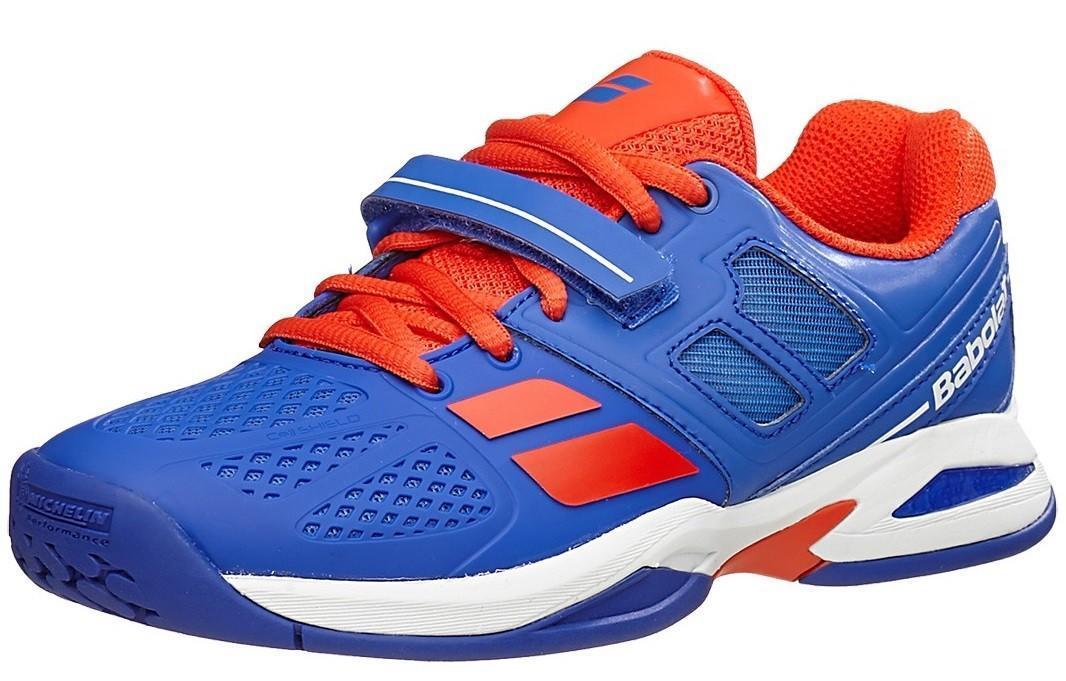 Детские теннисные кроссовки Babolat Propulse All Court Junior blue/red